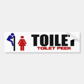 Toilet Peek Bumper Sticker