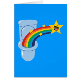 Toilet Rainbow Card
