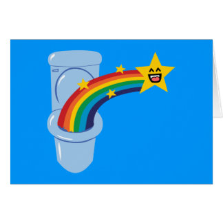 Toilet Rainbow Greeting Card