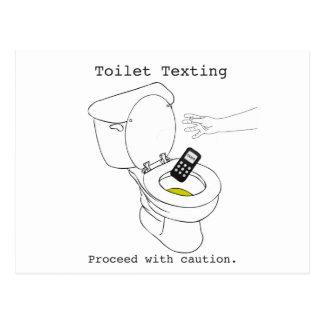 Toilet Texting Postcard