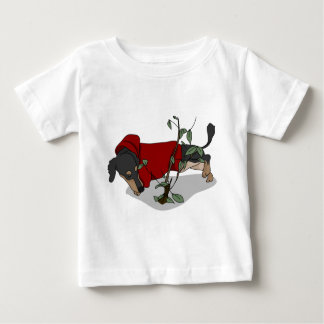 toilet time dachshund baby T-Shirt