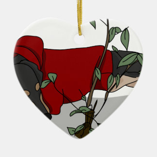 toilet time dachshund ceramic heart decoration