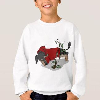 toilet time dachshund sweatshirt