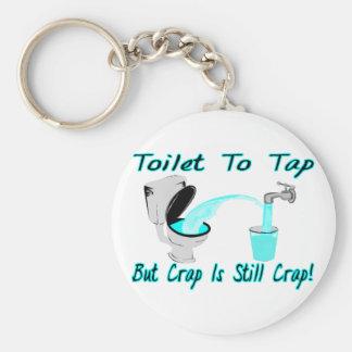 Toilet To Tap Basic Round Button Key Ring