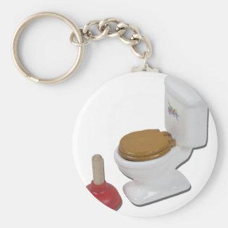 ToiletLargePlunger051411 Basic Round Button Key Ring