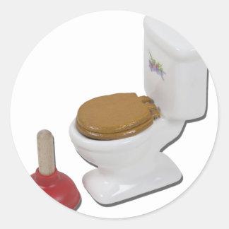 ToiletLargePlunger051411 Classic Round Sticker