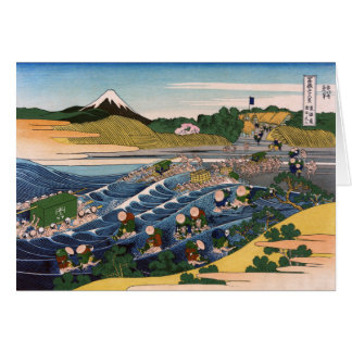 Tokaido Kanaya No Fuji, Katsushika Hokusai Greeting Card