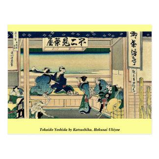 Tokaido Yoshida by Katsushika, Hokusai Ukiyoe Postcard