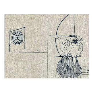 Tokaido Yoshida by Katsushika, Hokusai Ukiyoe Post Cards