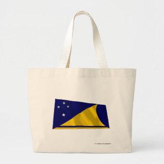 Tokelau Waving Flag Jumbo Tote Bag