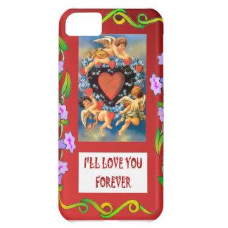 TOken of love, cupids around a heart iPhone 5C Cases