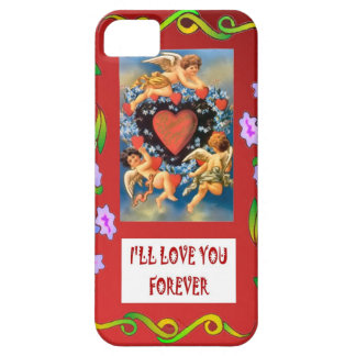 TOken of love, cupids around a heart iPhone 5 Covers