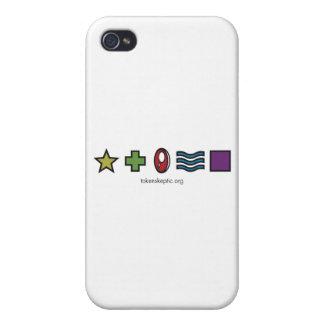 Token Skeptic Zener Logo Cases For iPhone 4