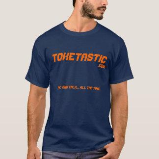 Toketastic Navy Blue with orange website name T-Shirt