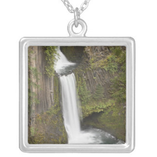 Toketee Falls in Douglas county, Oregon Silver Plated Necklace