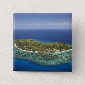 Tokoriki Island, Mamanuca Islands, Fiji 15 Cm Square Badge