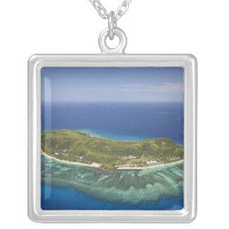 Tokoriki Island, Mamanuca Islands, Fiji Silver Plated Necklace