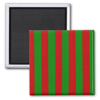 Toksie Red and Green Wallpaper Fridge Magnet