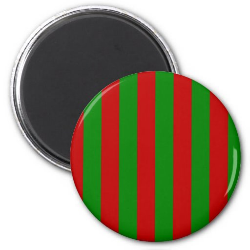Toksie Red and Green Wallpaper Refrigerator Magnets