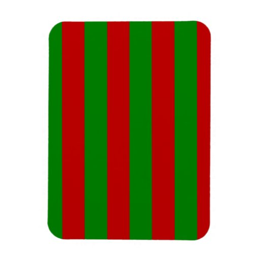 Toksie Red and Green Wallpaper Rectangular Magnets