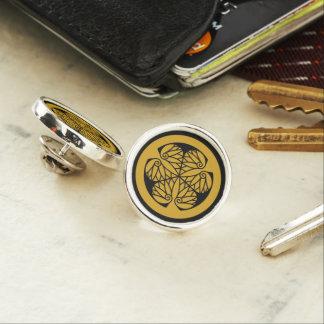 Tokugawa hollyhock(13)Edo Lapel Pin