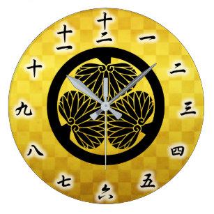 Tokugawa Ieyasu Japanese Family Crest Large Clock
