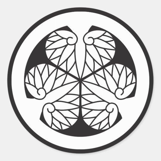 Tokugawa mallow (13 蕊) classic round sticker