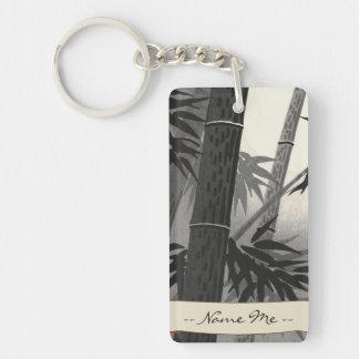 Tokuriki Bamboo and Sun japanese fine art Double-Sided Rectangular Acrylic Key Ring