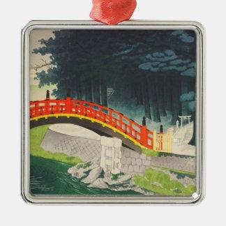 Tokuriki Tomikichiro Nikko japan  japanese art Silver-Colored Square Decoration