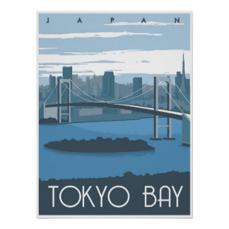 Tokyo Bay during the day Poster