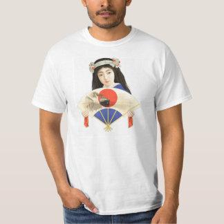 Tokyo Geisha With Fan T-Shirt