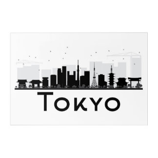 Tokyo, Japan | Black & White City Skyline Acrylic Wall Art
