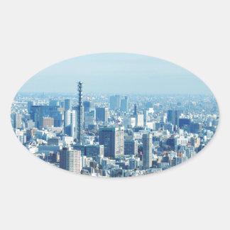 Tokyo, Japan Oval Sticker