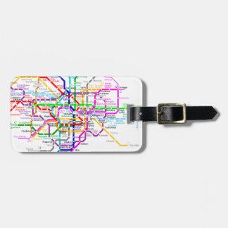Tokyo Japan Subway Map Luggage Tag