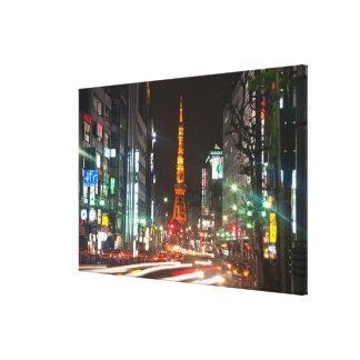 Tokyo, Japan. Tokyo Tower is a communications Canvas Print