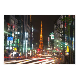 Tokyo, Japan. Tokyo Tower is a communications Photo Print