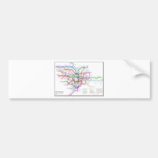 Tokyo Metro Map Bumper Sticker