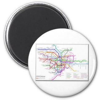 Tokyo Metro Map Refrigerator Magnet