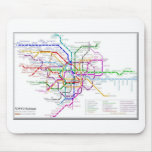 Tokyo Metro Map Mouse Pad