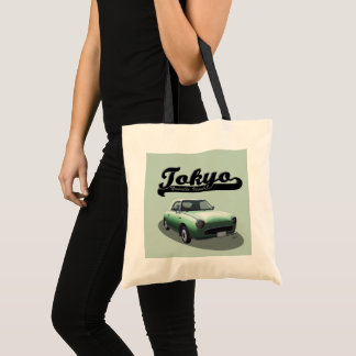 Tokyo Nouvelle Vague Green Nissan Figaro Tote Bag