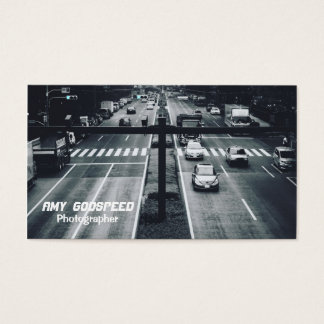 Tokyo road monochrome business card