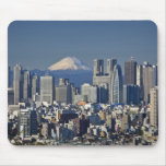 Tokyo, Shinjuku District Skyline, Mount Fuji, Mouse Pad