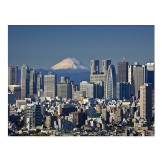 Tokyo Shinjuku District Skyline Mount Fuji Postcards