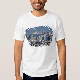 Tokyo, Shinjuku District Skyline, Mount Fuji, Tshirts