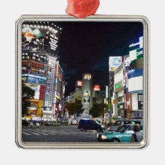 Tokyo Silver-Colored Square Decoration