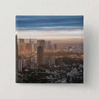 Tokyo Skyline at Sunset 15 Cm Square Badge