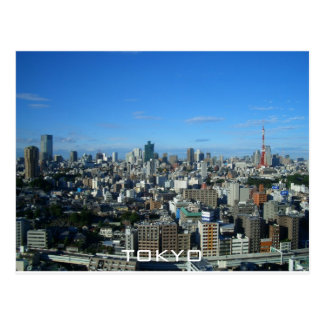 Tokyo skyline postcard