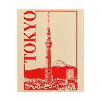 Tokyo - SkyTree Wood Canvas