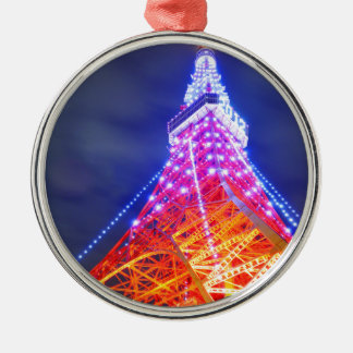 Tokyo Tower at night Christmas Ornament
