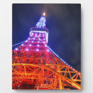 Tokyo Tower at night Plaque